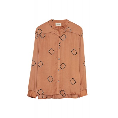DOMINIQUE BLOUSE - TERRACOTA TIIE DYE