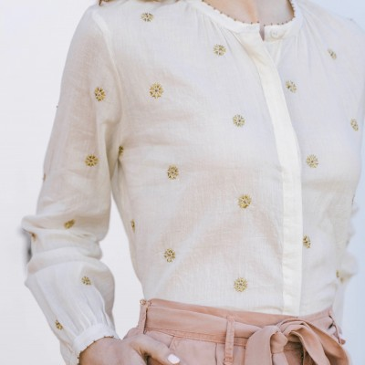 CROLINE BLOUSE - GOLDEN FLOWERS